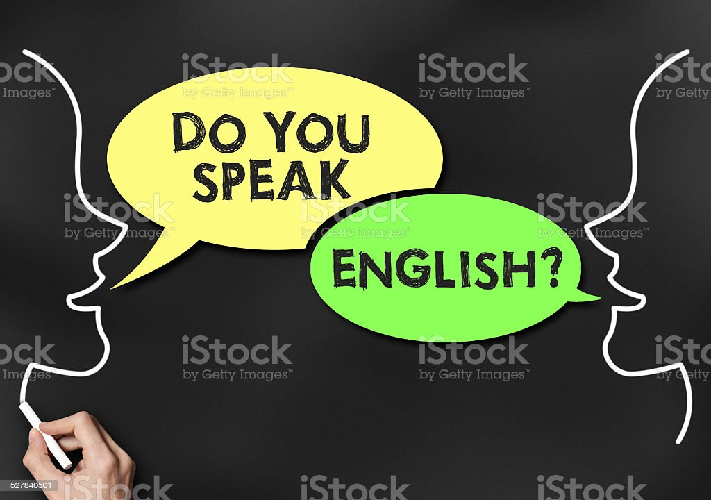 Do you speak English? / Blackboard (Click for more) stock photo