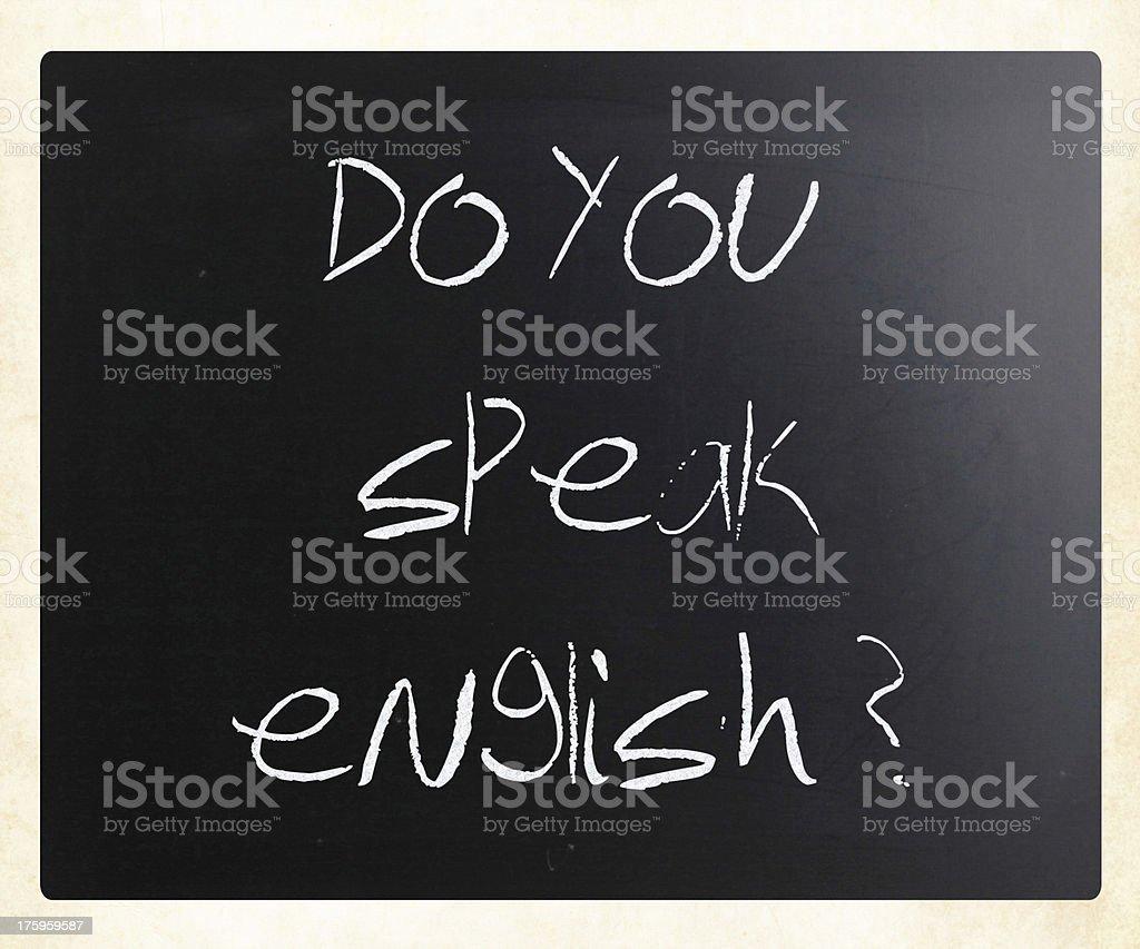 Do you speak english royalty-free stock photo
