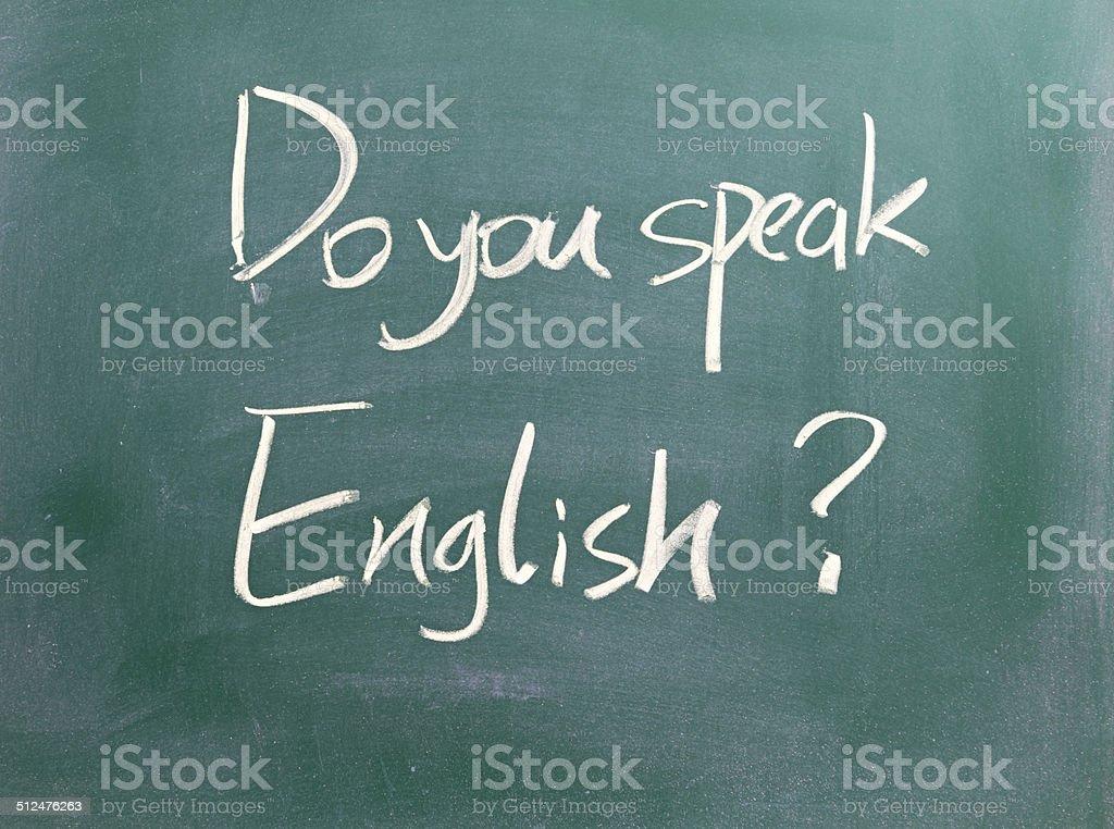 Do you speak english ? stock photo
