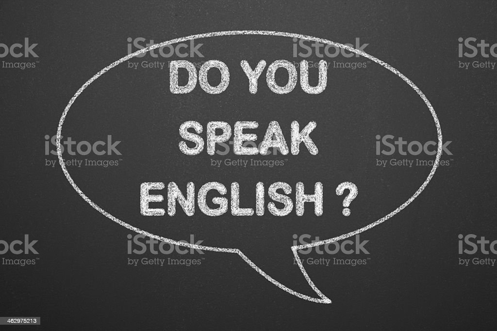 Do you speak english question royalty-free stock photo