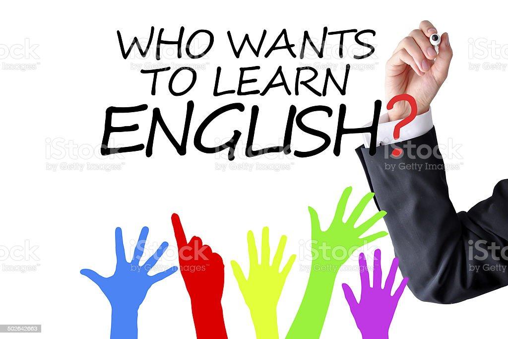 Do you speak English question stock photo