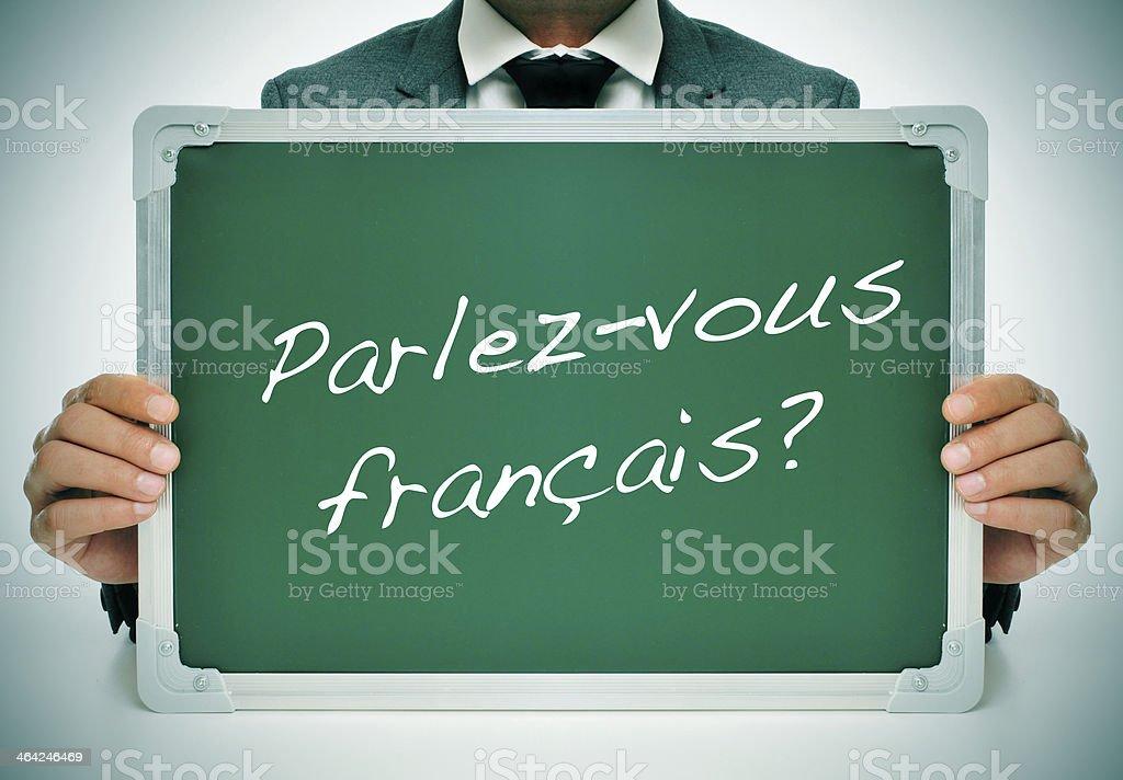 do you speak french? stock photo