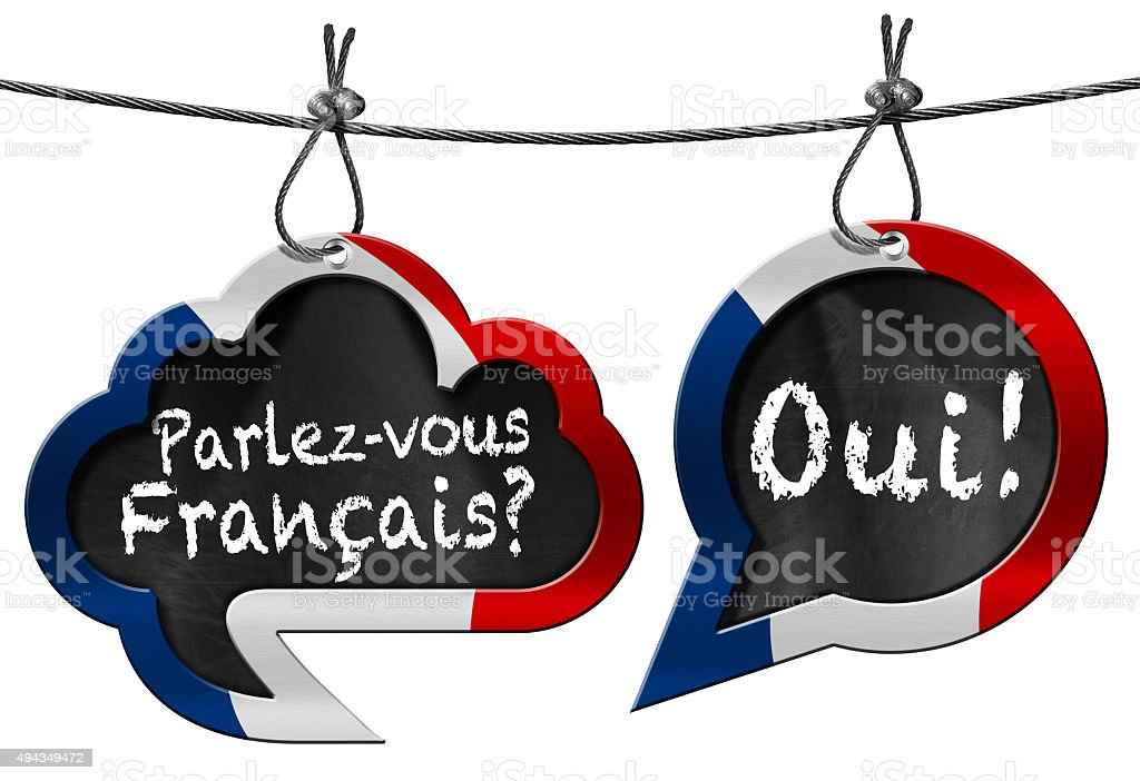 Parlez-vous Francais - Speech Bubbles stock photo
