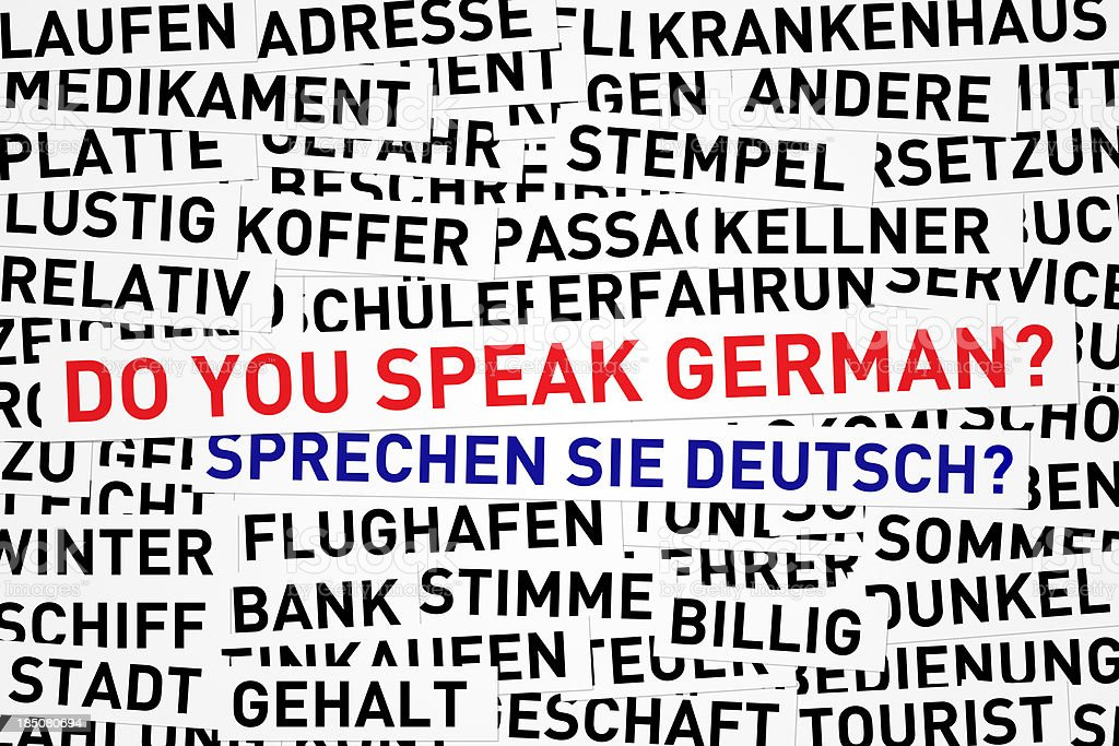 Do you speak german? royalty-free stock photo