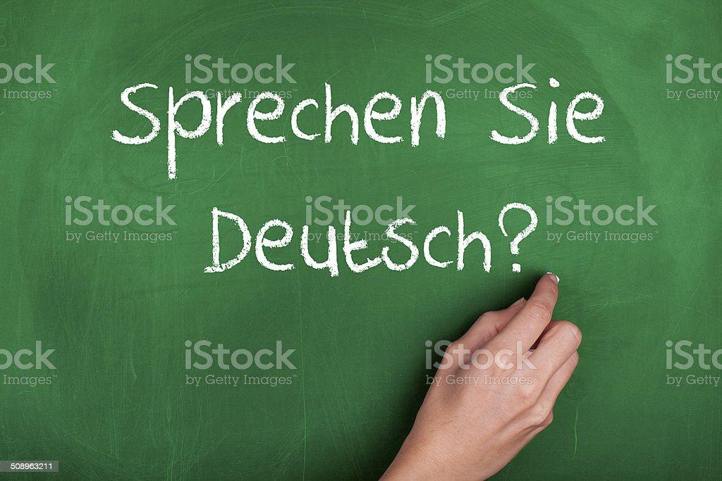 Sprechen Sie Deutsch? stock photo