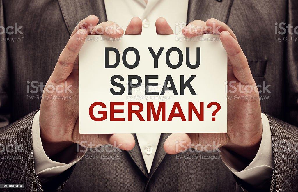 Do You Speak German? stock photo