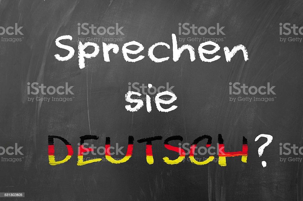 Sprechen sie deutsch stock photo