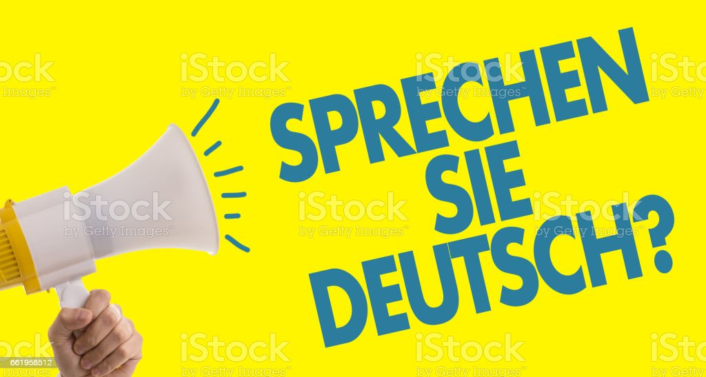 Do You Speak German? (in German) stock photo