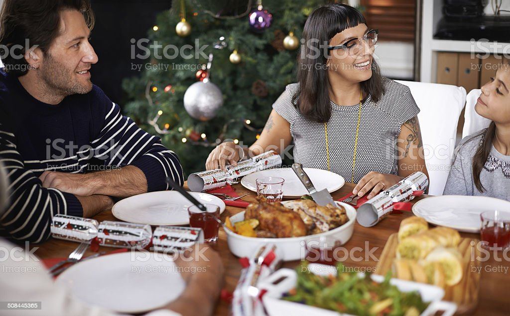 Do you think daddy cooks well ? royalty-free stock photo