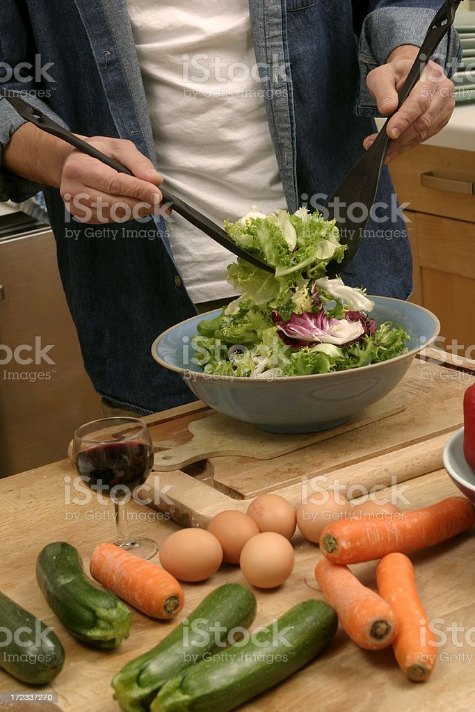 Do you want some salad? royalty-free stock photo