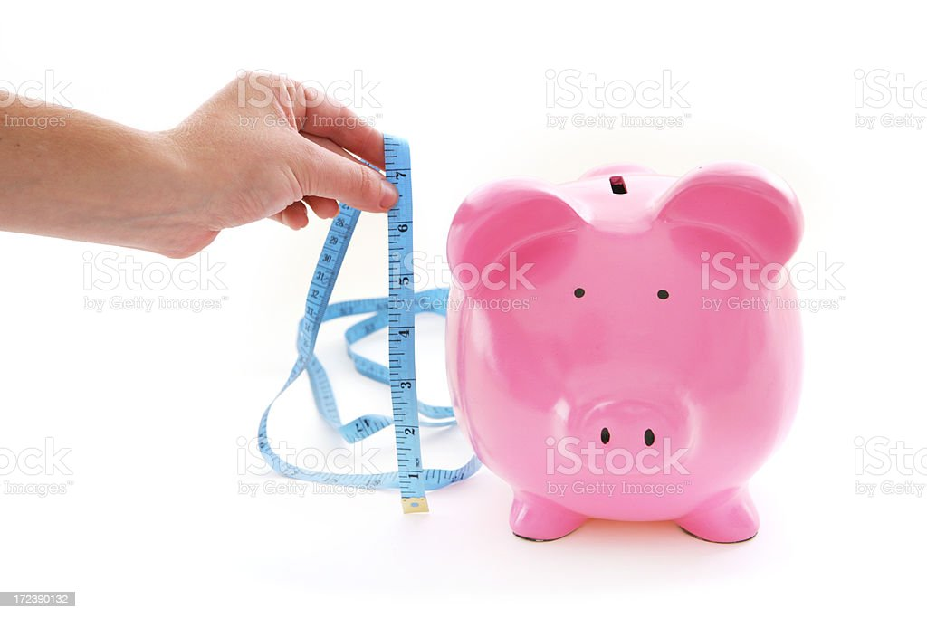 Do Your Savings Measure Up? royalty-free stock photo
