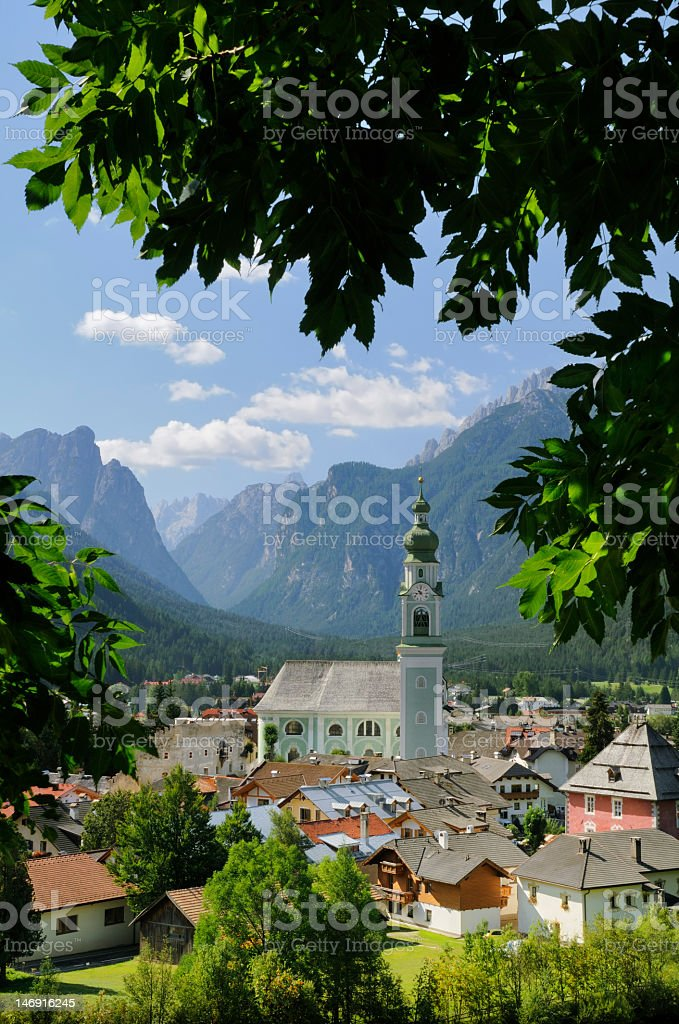 Dobbiaco (Toblach) - Dolomites stock photo