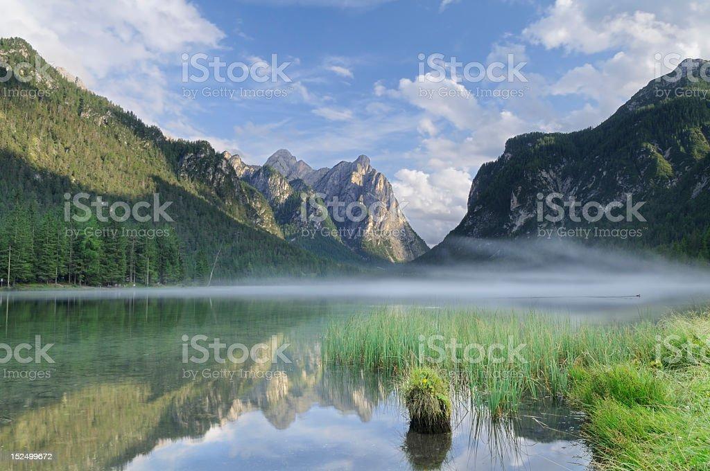 Dobbiaco Lake (Toblach - Italy) stock photo