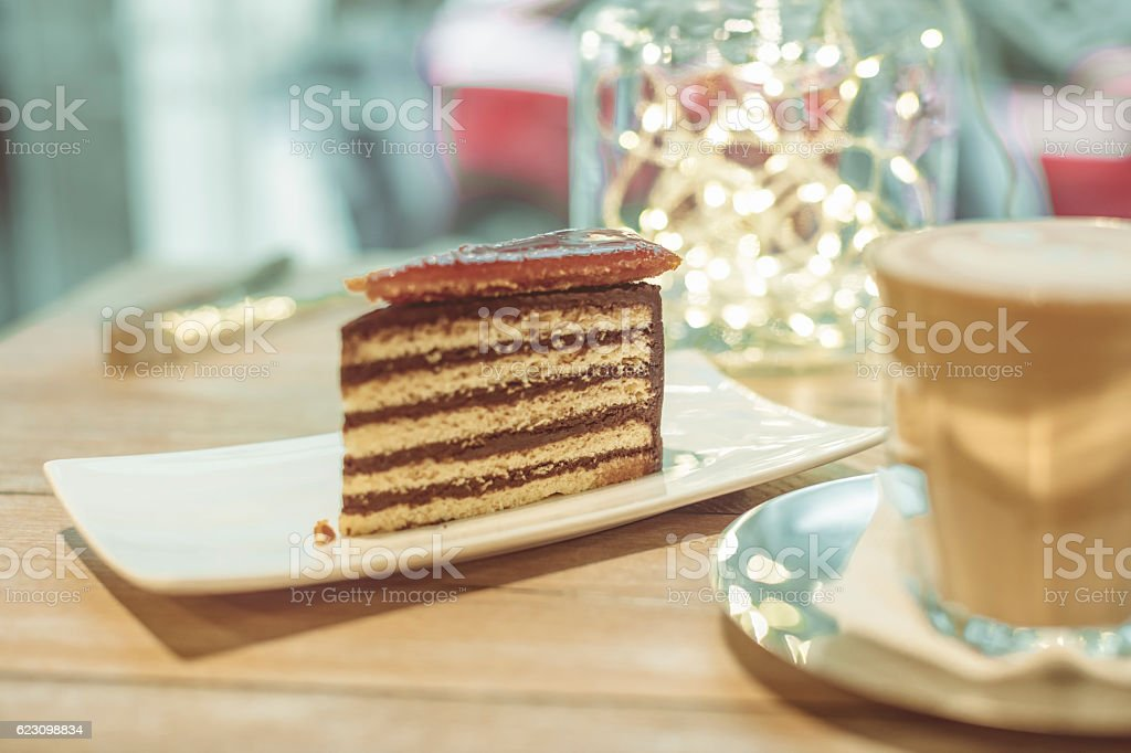 Dobos torte stock photo