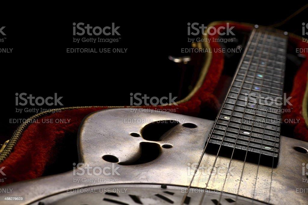 Dobro Guitar in case stock photo