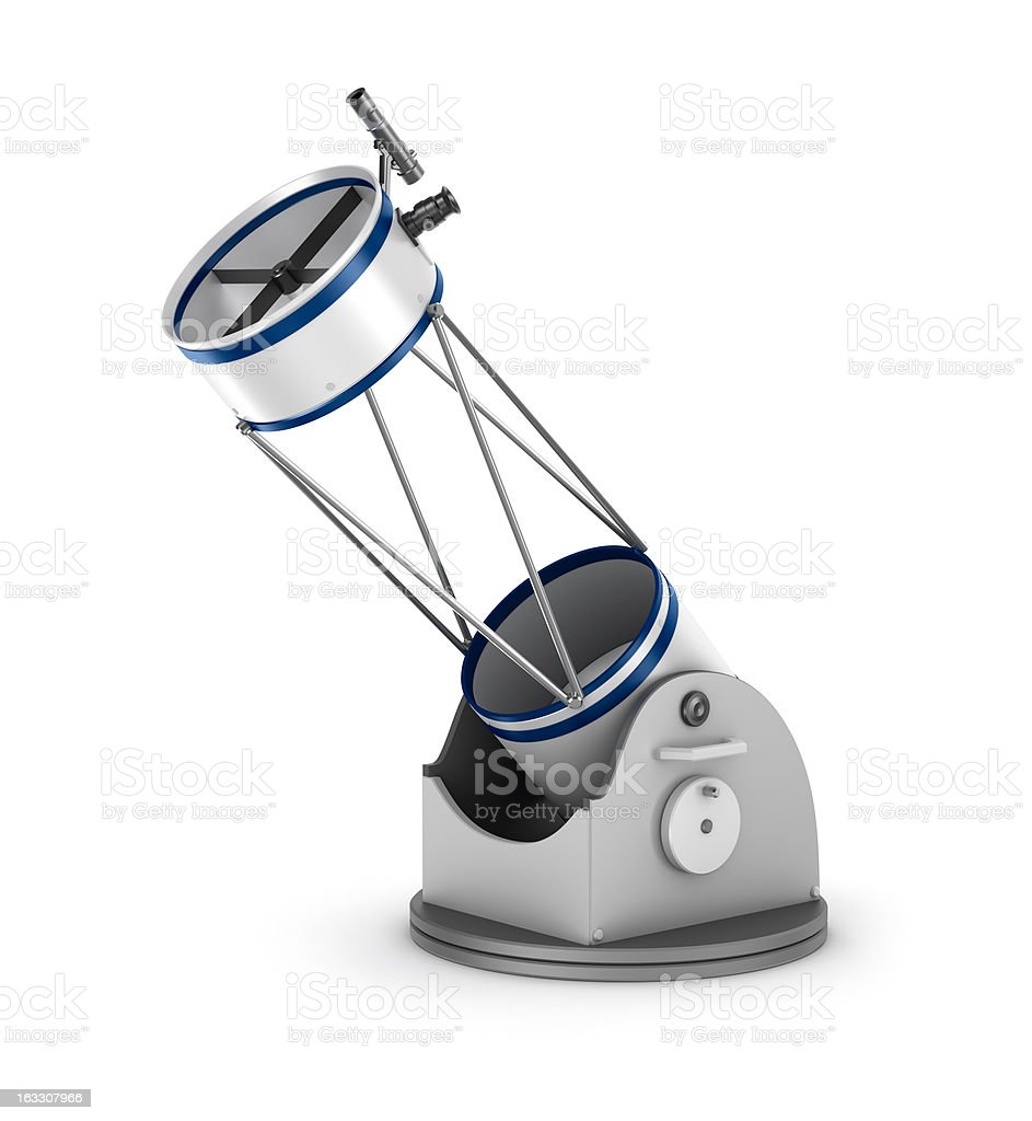 Dobson reflector telescope. stock photo