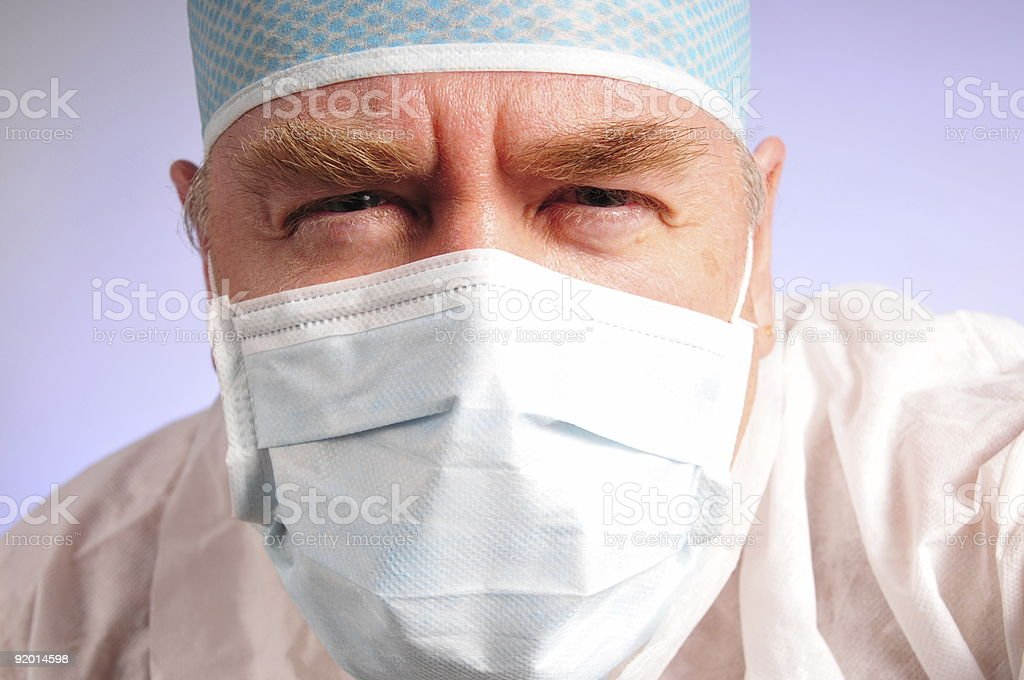 doc squinting royalty-free stock photo