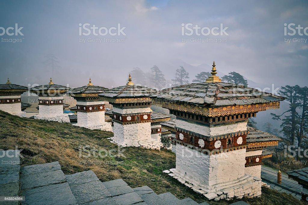 Dochu La Bhutan stock photo