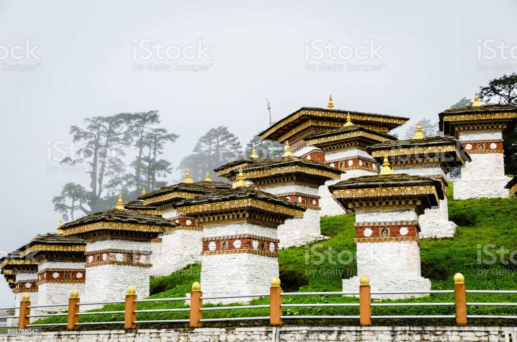 Dochula Pass, Druk Wangyal, Bhutan, Thimphu stock photo