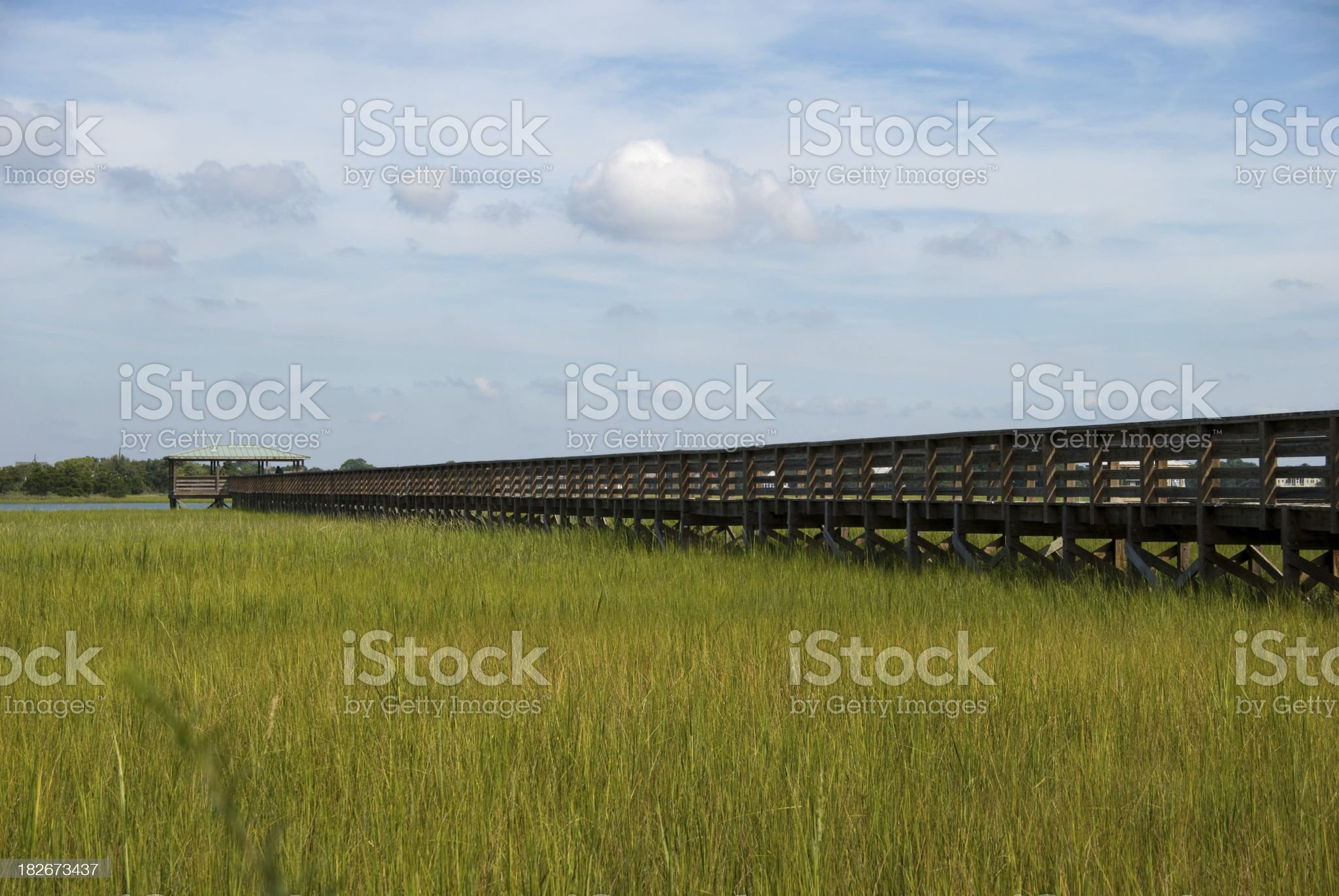 dock and marsh royalty-free stock photo