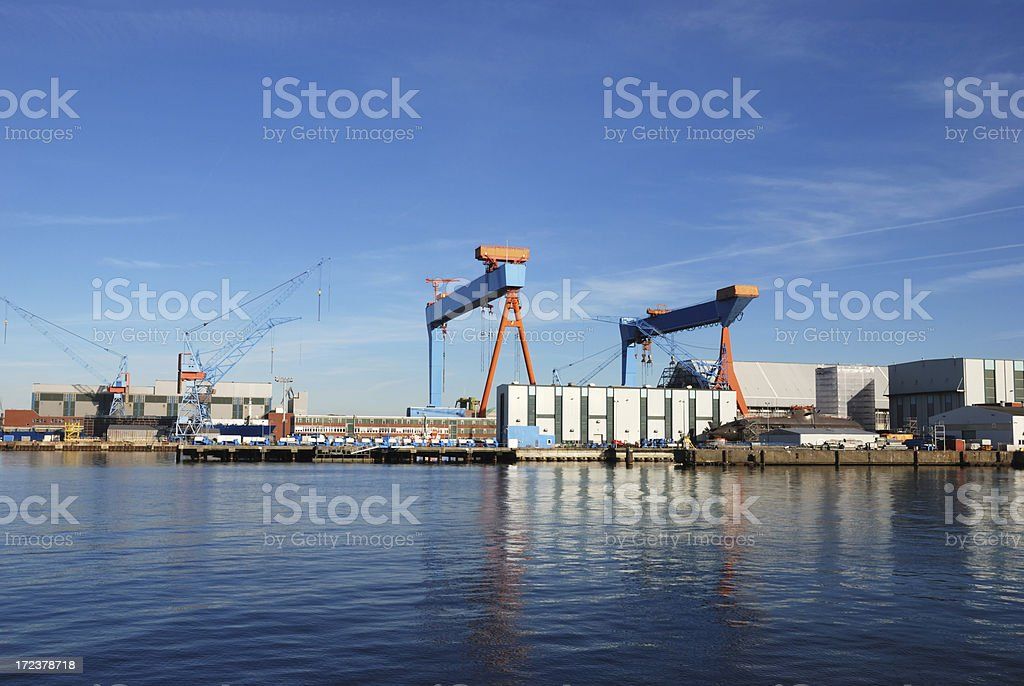 dock and submarine royalty-free stock photo