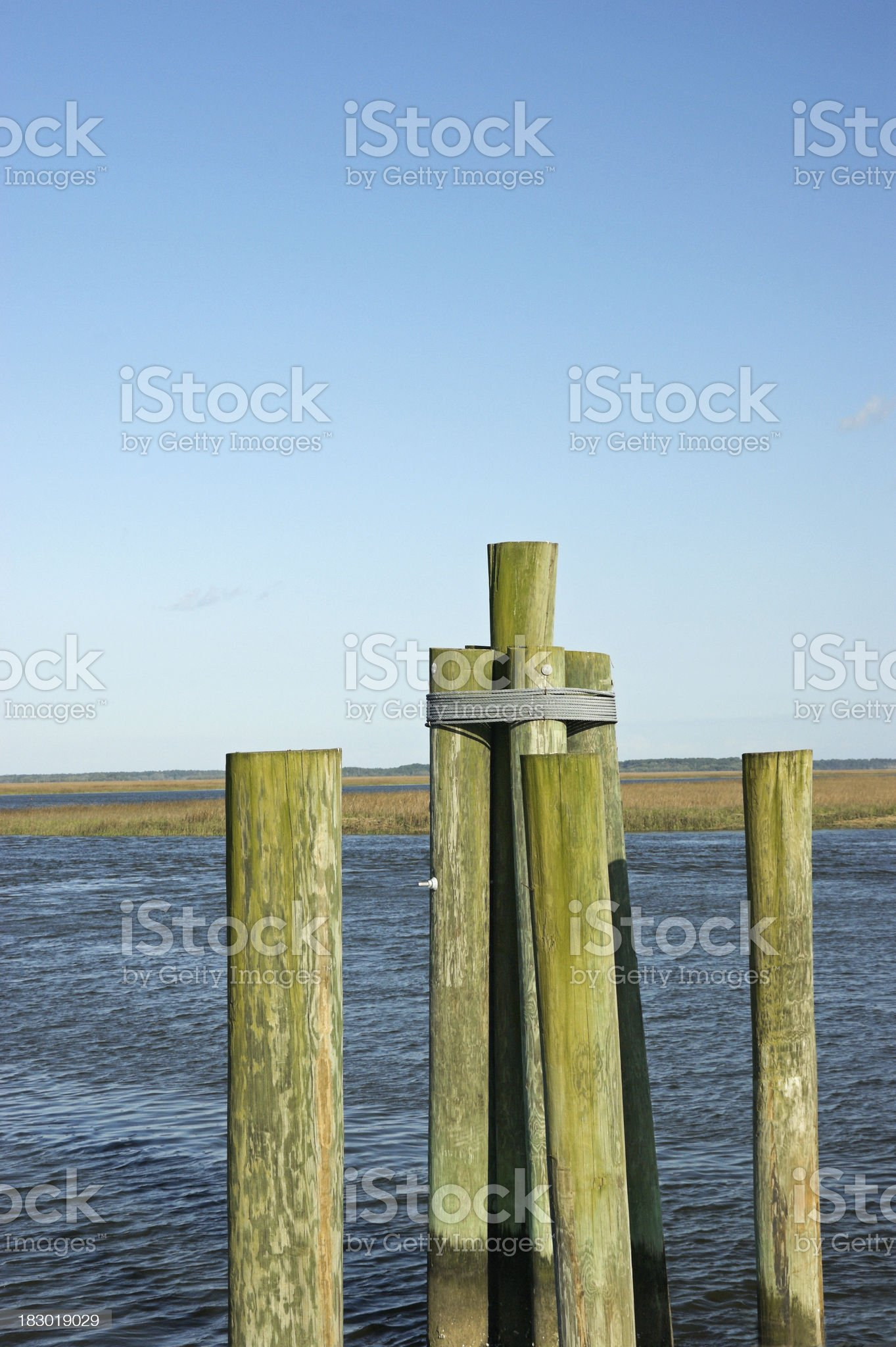 Dock and Water royalty-free stock photo