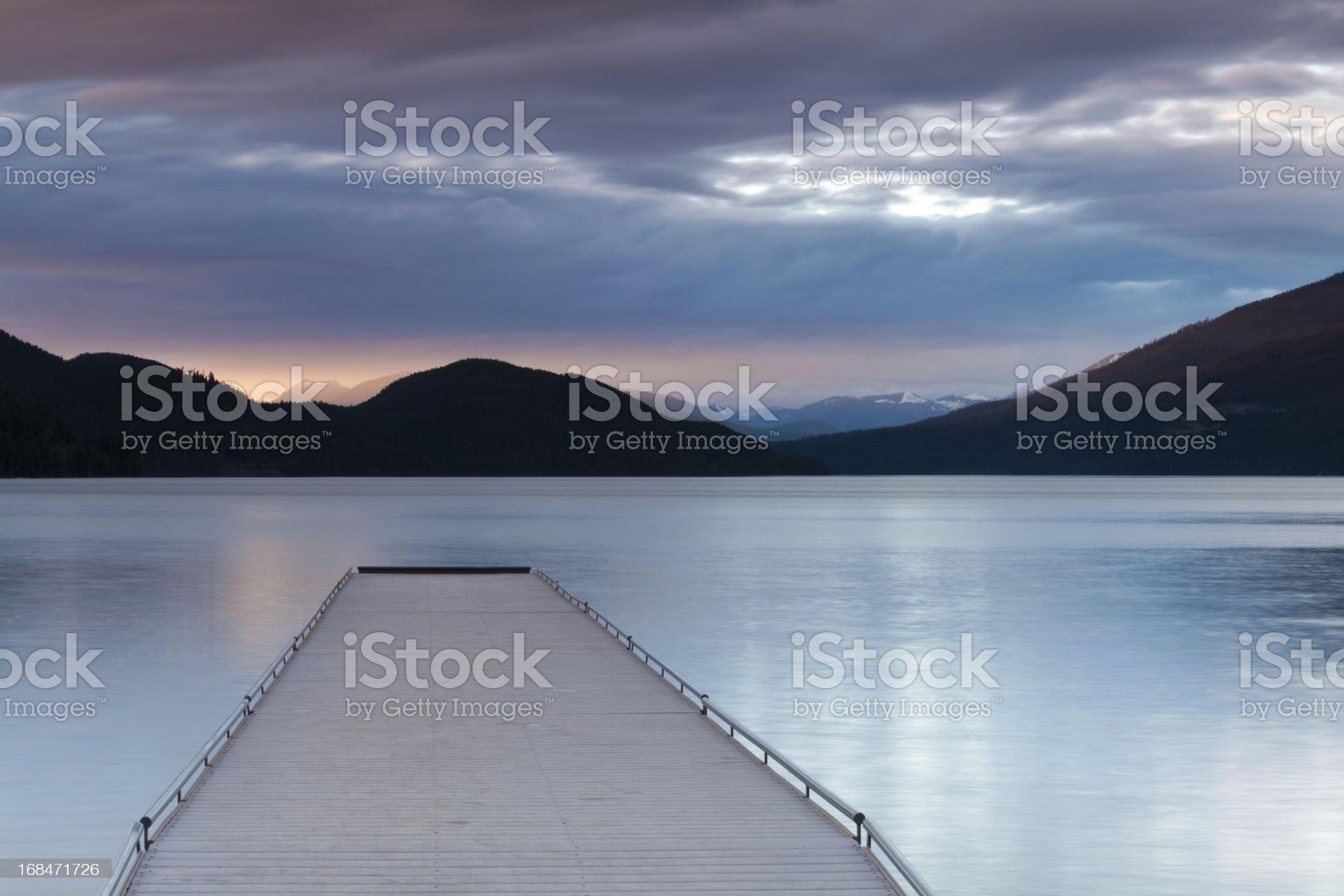 Dock at Sunset royalty-free stock photo