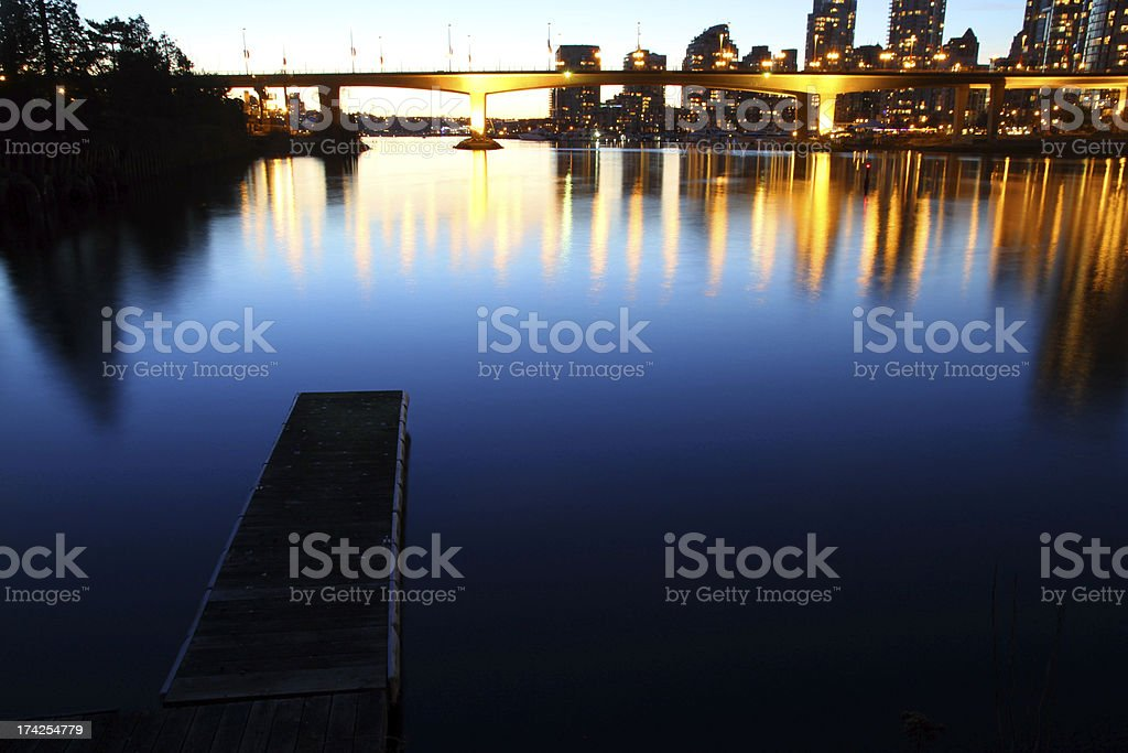 Dock at the Edge of Downtown royalty-free stock photo