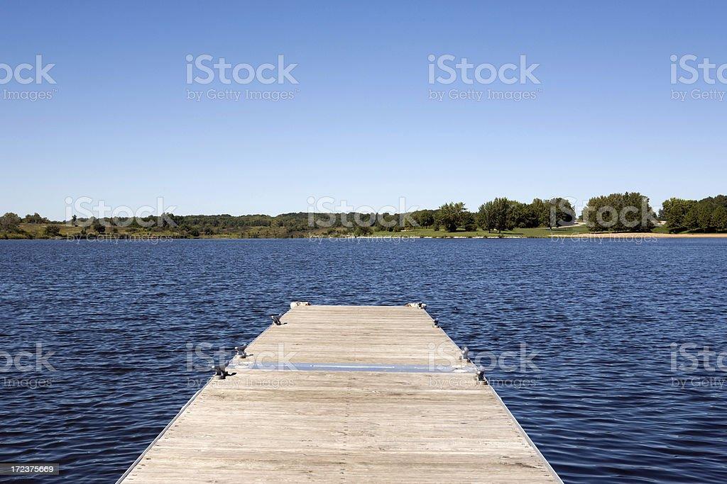 Dock At the Lake royalty-free stock photo