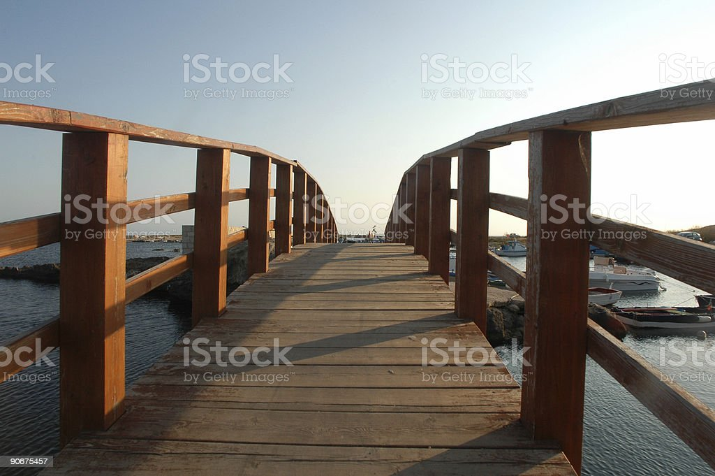 dock at the sunset royalty-free stock photo