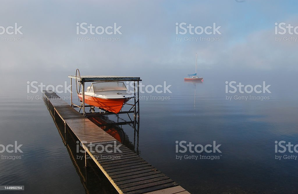 dock boat stock photo