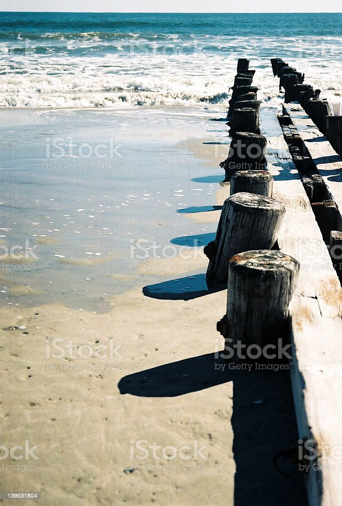 Dock by the water royalty-free stock photo