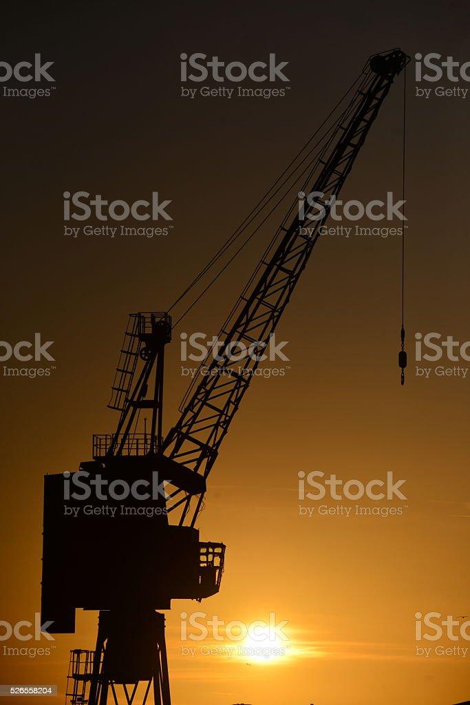 Dock crane, Jersey, U.K. stock photo