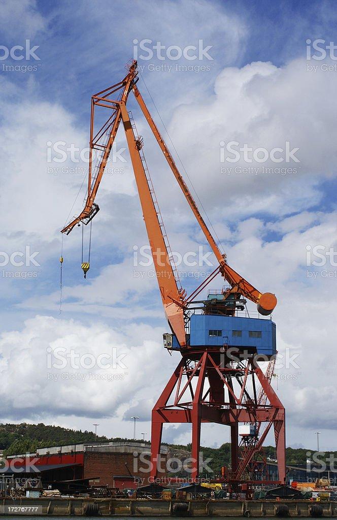 Dock Crane stock photo