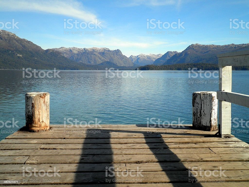 Dock in Argentina stock photo
