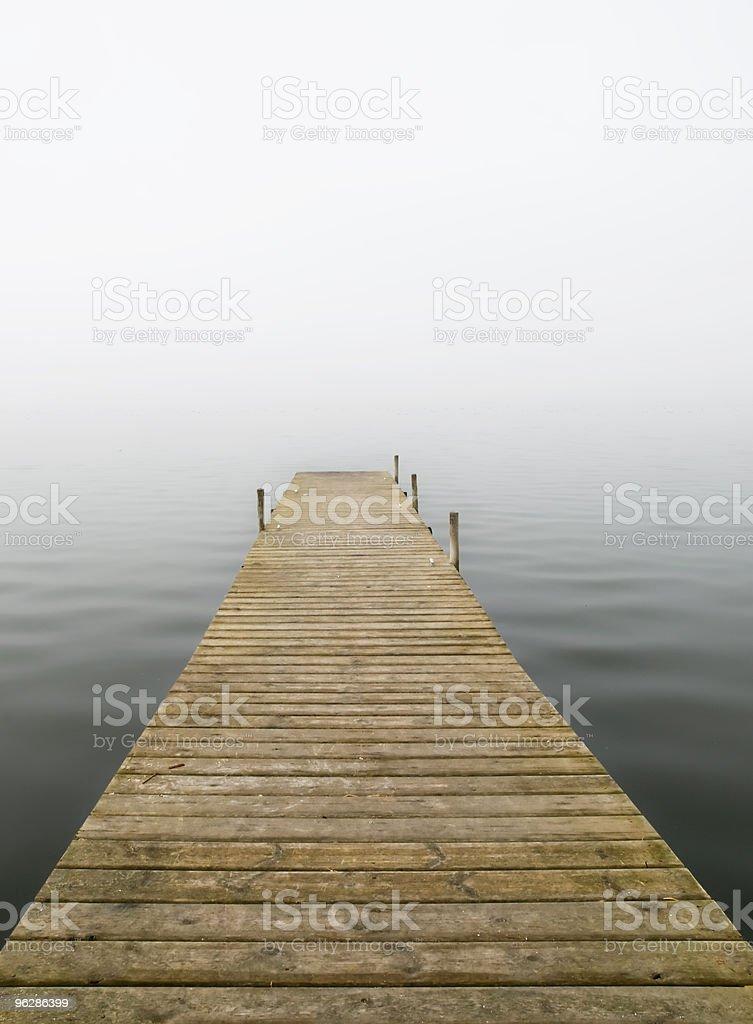 Dock in the Fog stock photo