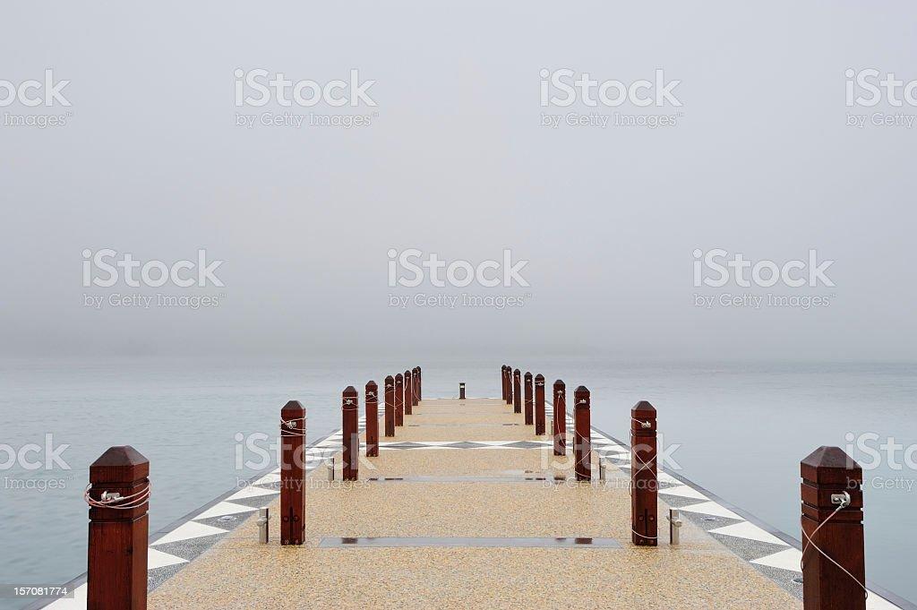 Dock into Mist stock photo