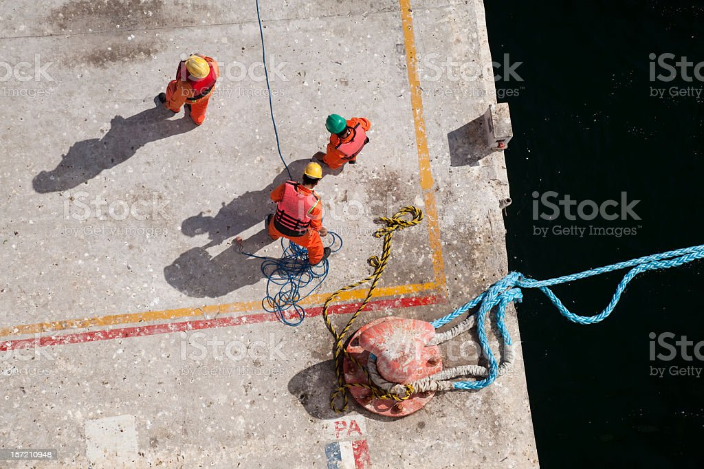 Dock Labourers royalty-free stock photo