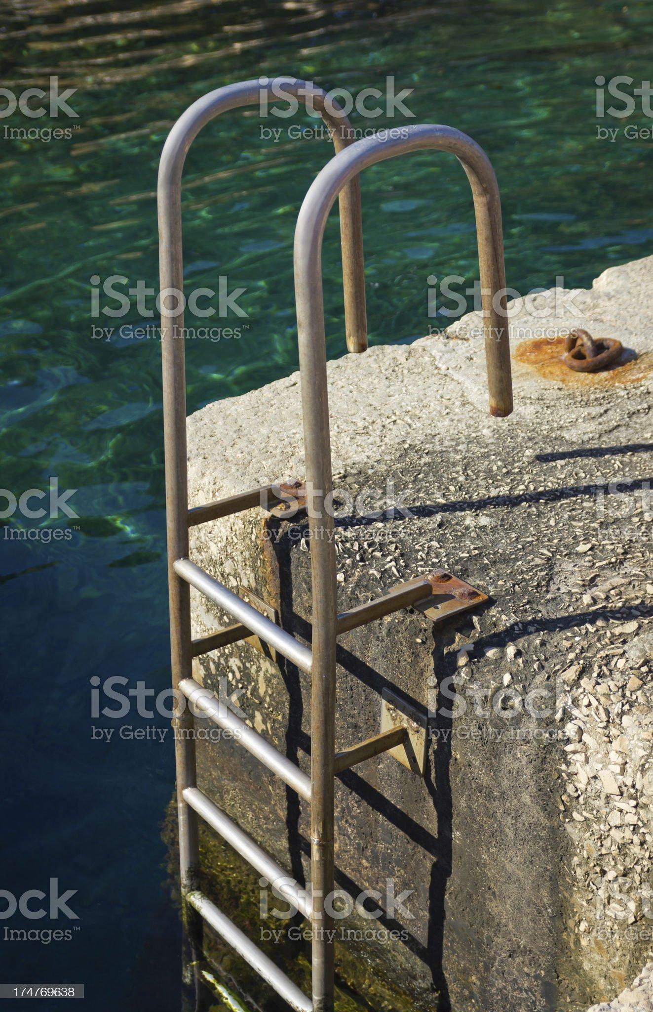 Dock ladder royalty-free stock photo
