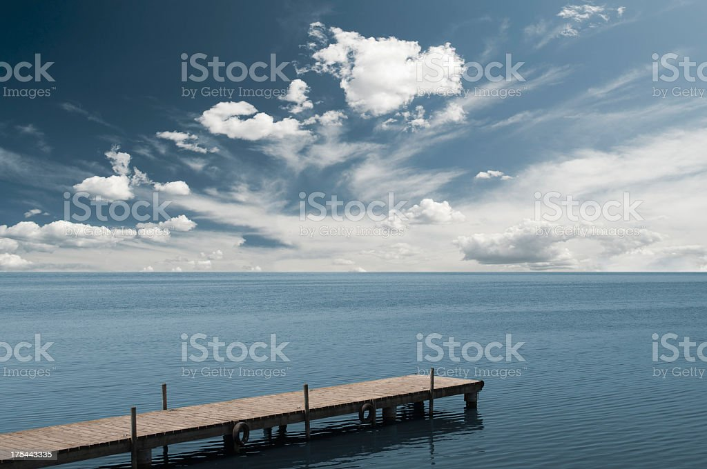 Dock of the Bay stock photo