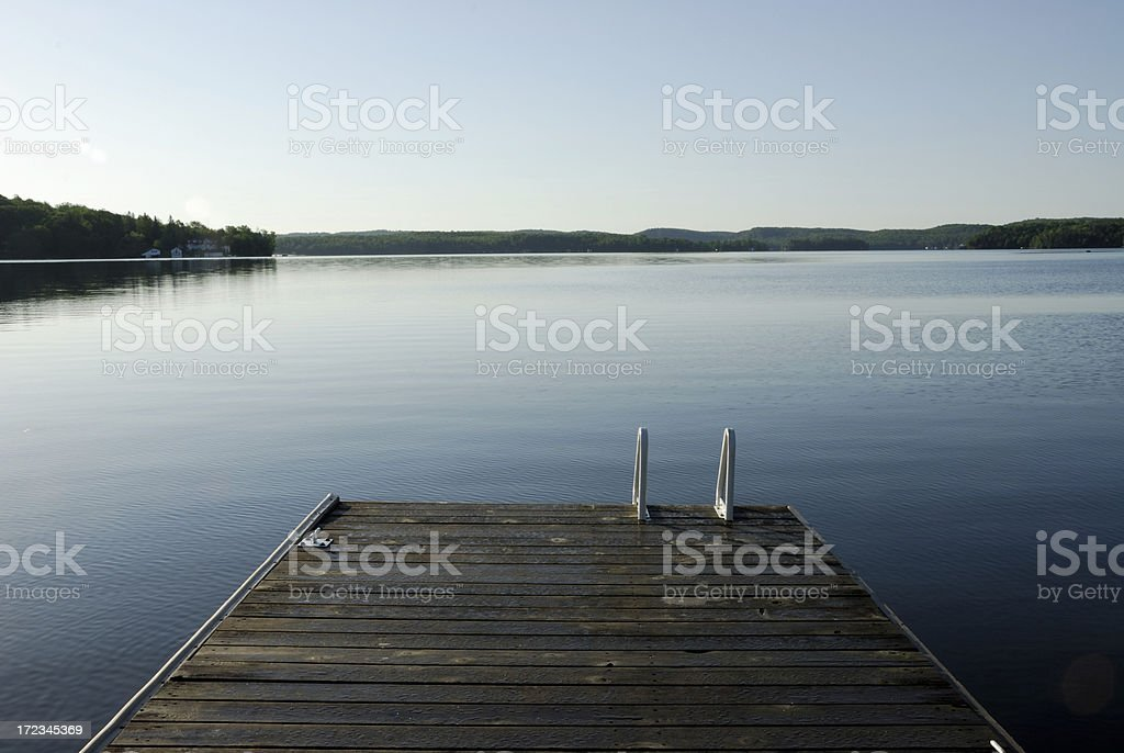 Dock on a Lake royalty-free stock photo