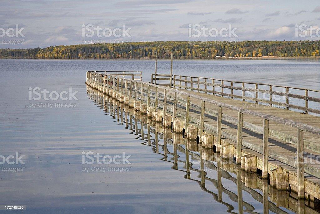 Dock on Northern Lake stock photo