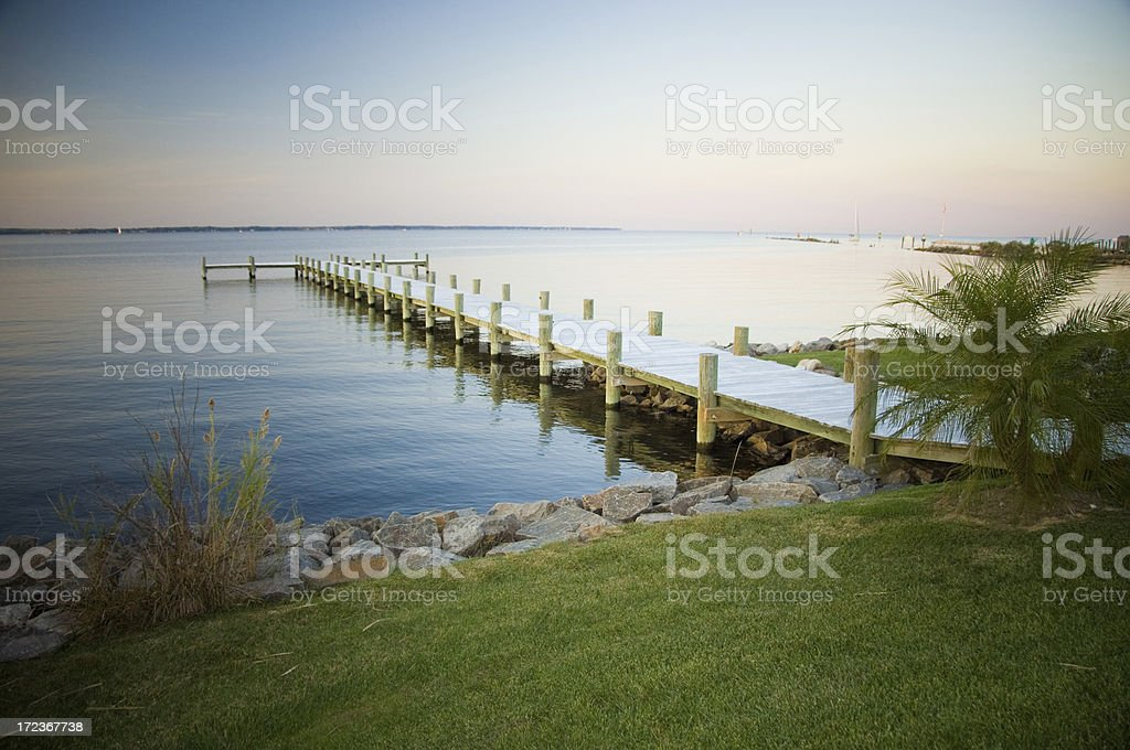 Dock on the Bay royalty-free stock photo