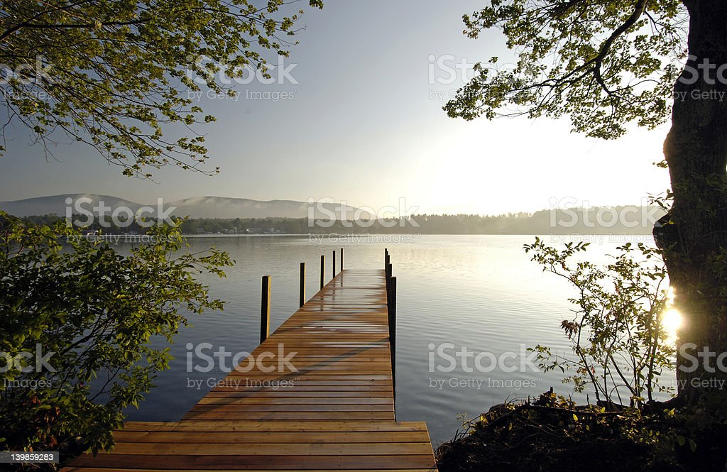 Dock on the Lake stock photo