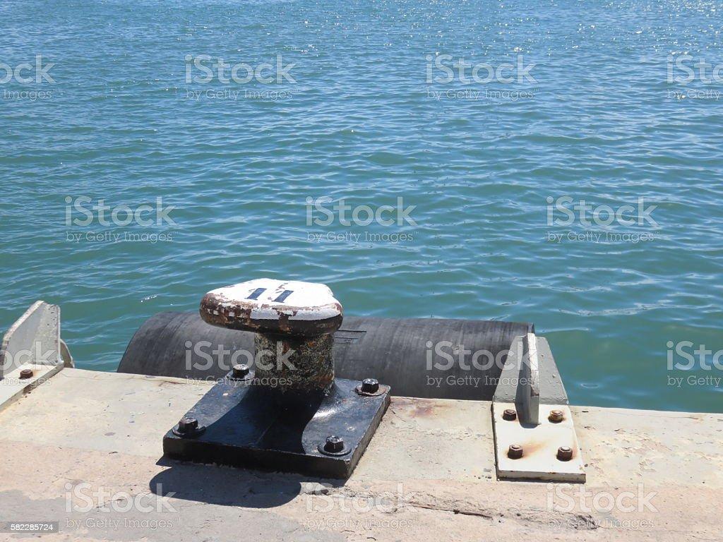 dock Pole stock photo