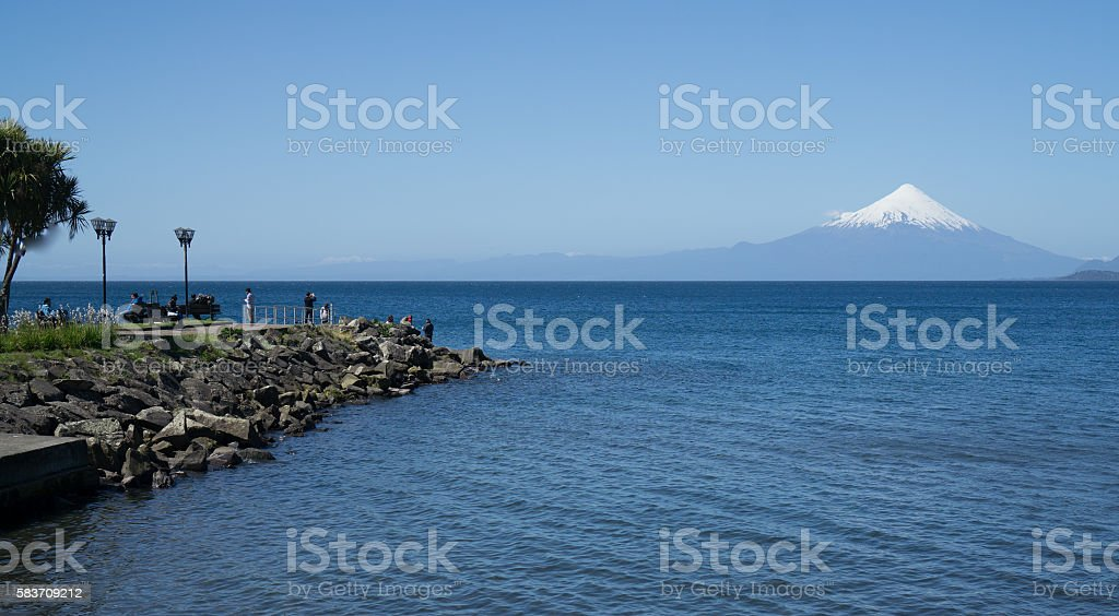 Dock Puerto Varas, Chile stock photo