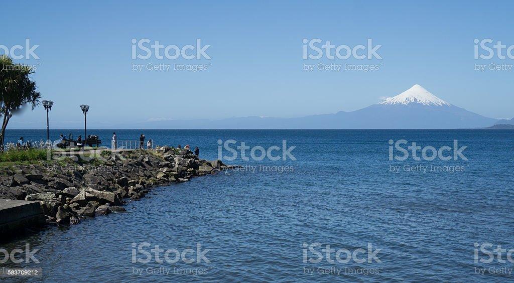 Dock Puerto Varas, Chile stock photo