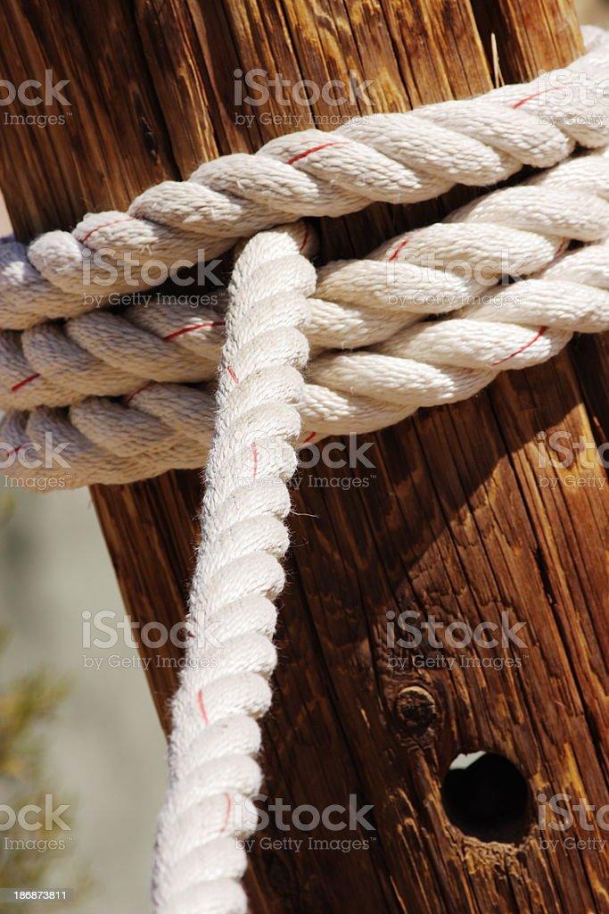 Dock Rope Bollard Post royalty-free stock photo