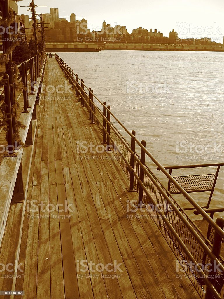 Dock to Brooklyn - A royalty-free stock photo