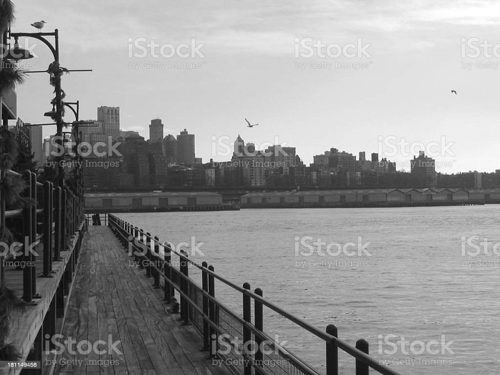 Dock to Brooklyn - B royalty-free stock photo